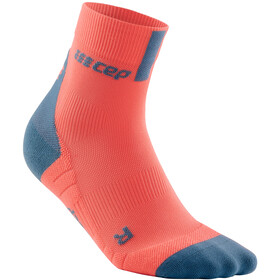 cep Short Socks 3.0 Donna, arancione/grigio